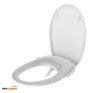 Non-Electric Round Bidet Toilet Seats Dual Nozzles Soft Close X0622